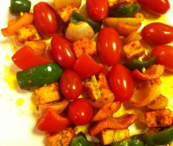 Paneer Tikka made in Microwave