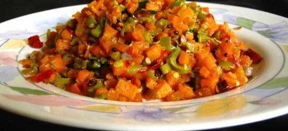 Carrot Beans Thoran Recipe / Yummy Dish