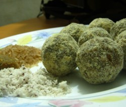 Sweetened Rice Balls