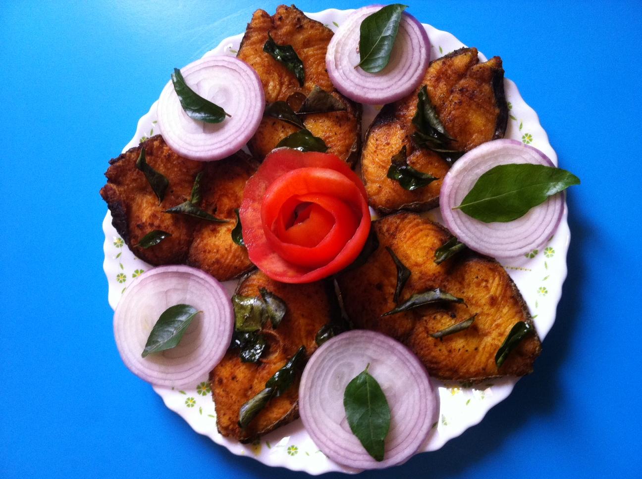 King fish fry recipe kerala style fish fry for King fish recipe