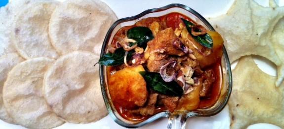 Ney Pathiri ( Naypathal ) with beef roast