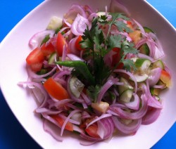 Onion, Cucumber and Tomato Salad