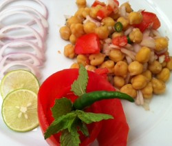 Chana chat Chickpea Indian Salad