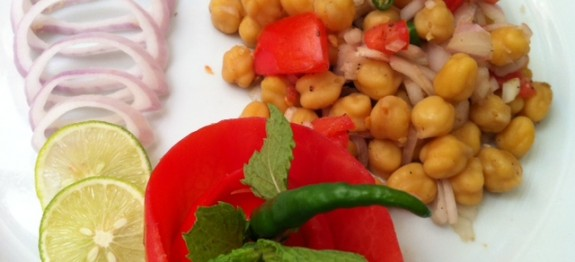 Homemade Chickpea Chat - Chana chat