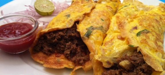 Beef omelet Sandwich