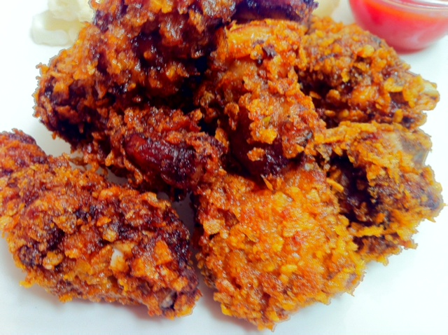 Crispy Fried Chicken With Corn Flakes Kfc Recipe Or Albaik Chicken