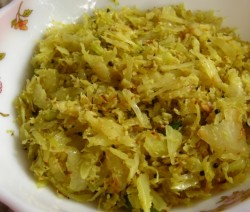 Easy Cabbage Thoran