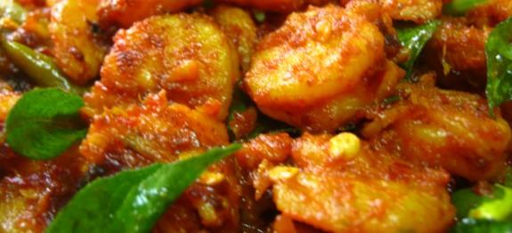 Kerala style Prawn fry