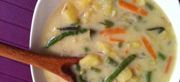 Vegetable stew recipe - vegetables with coconut milk