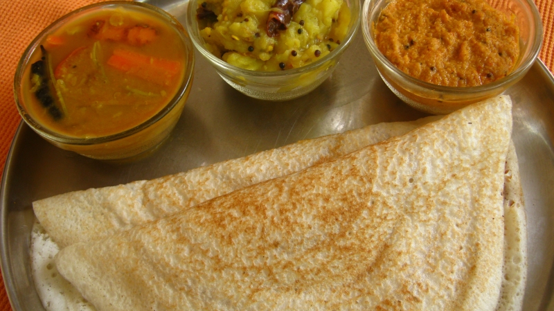 Masala Dosa Recipe Rice Pancake With Potato Filling Indian Recipes