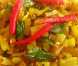Stir Fried Papaya