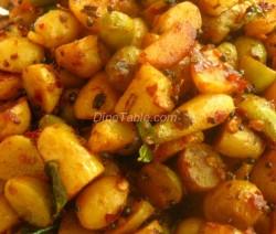 Koorka Mezhukkupuratti Recipe / Simple Dish