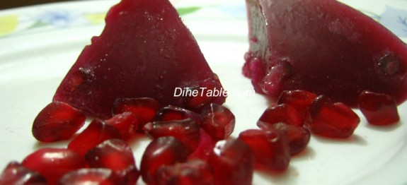 Pomegranate Jelly Recipe - Simple Homemade Dessert Recipe - Xmas Jelly