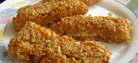 Oats Coated Banana Fry