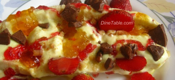 Banana Split with Ice cream and Chocolate flavour