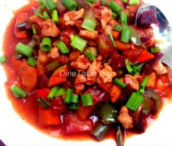 Chicken with vegetable stir fry
