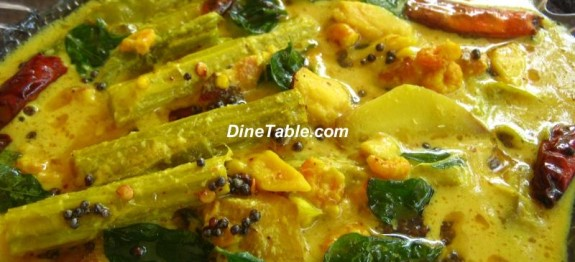 Prawn drumstick mango curry