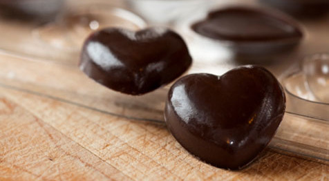 Dark chocolate is good for the heart