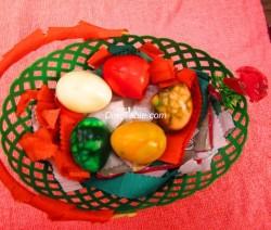 Colourfull Cracked Easter Eggs