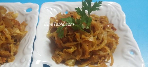 Cabbage And Onion Stir Fry With Less Oil