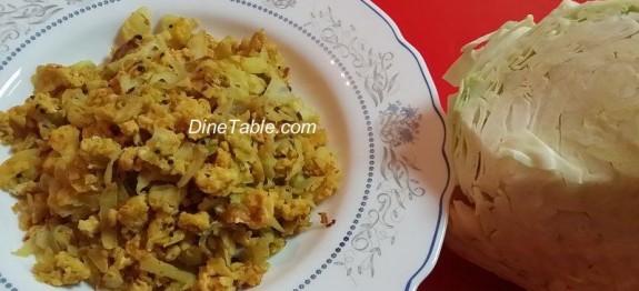 Cabbage Egg Burji