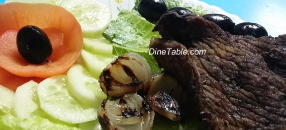 Grilled Beef And Grilled Onion