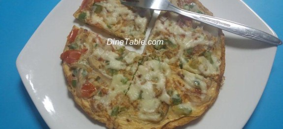 Omellette Pizza With Zero Oil