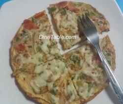 Omellette Pizza with Zero Oil