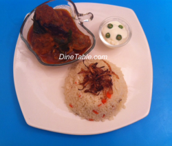 Ghee Rice with Malabar Chicken Curry & Youghurt
