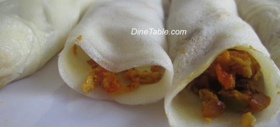 Omana Pathiri - ഓമന പത്തിരി - Egg Filled Pancake - Malabar Recipe