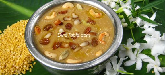 Cherupayar Parippu Payasam Recipe - ചെറുപയർ പരിപ്പ്  പായസം - Split Moong Dal Kheer