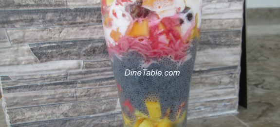 Fruit Falooda / Faluda Recipe
