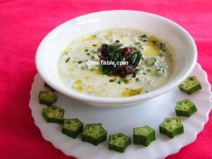 Vendakka pachadi / Ladyfinger pachadii Kerala recipe using Okra