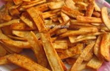 Tapioca Chips recipe   Kappa varuthathu ( കൊള്ളി വറുത്തത് ) recipe