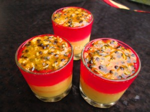 Jelly and custard with passion fruit recipe | Easy dessert recipe