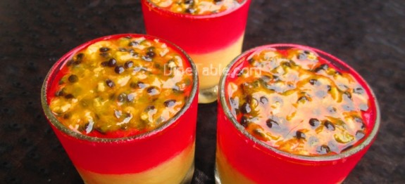 Jelly and custard dessert with passion fruit recipe | Easy dessert recipe
