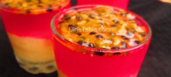 Jelly and custard dessert with passion fruit recipe | Easy dessert recipe