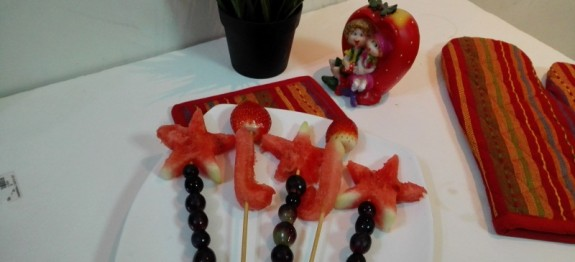 Fruit sticks recipe | Christmas salad recipe