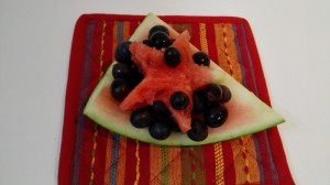 Easy fruit salad recipe | Watermelon with grapes salad recipe