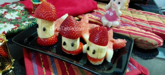 Christmas salad recipe | Fruits salad with banana and strawberry recipe