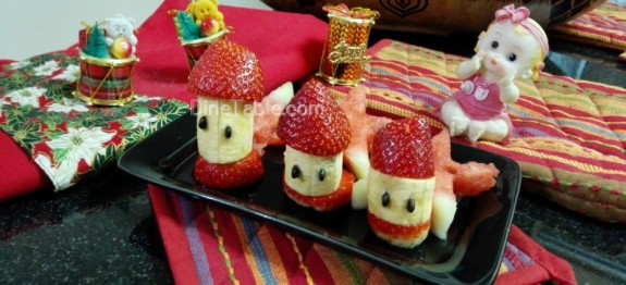 Fruits Salad With Banana And Strawberry