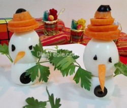 Snowman salad recipe | Christmas salad recipe