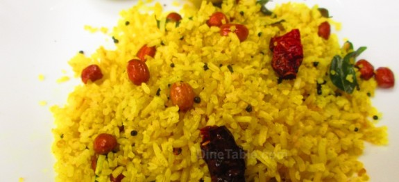 Lemon rice recipe   Easy vegetarian recipe