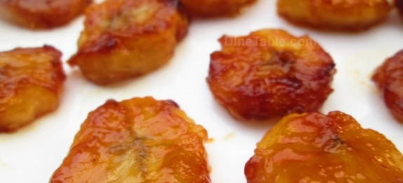 Pan fried honey bananas recipe