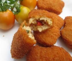 Homemade cheese chicken nuggets recipe