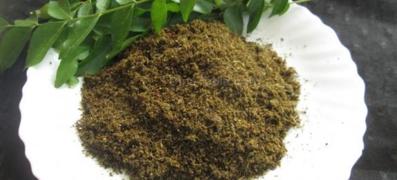 Curry leaves chutney powder recipe