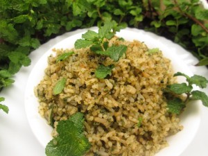 Mint rice recipe | Healthy vegetarian recipe
