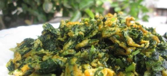 Spinach and Mozzarella Egg bake recipe
