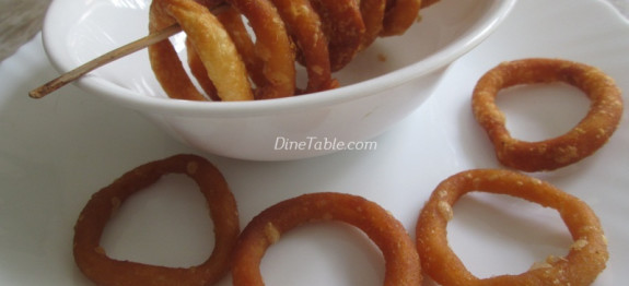 Fried Rice Flour Rings - Homemade Snack Recipe