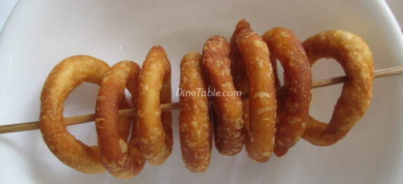 Fried Rice Flour Rings - Homemade Snack Recipe